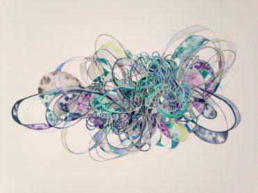 "Cat's Cradle Watercolor on paper 22"" x 27"" 2014"
