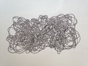 "Mind Map IV Pen and ink on paper 12"" x 15"" 2014"